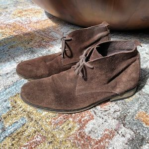 Shoes - Suede men's style ankle oxford boots 👞